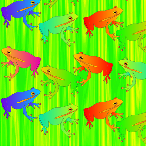 spoonflower_frog_square_5_9_2013 fabric by compugraphd on Spoonflower - custom fabric