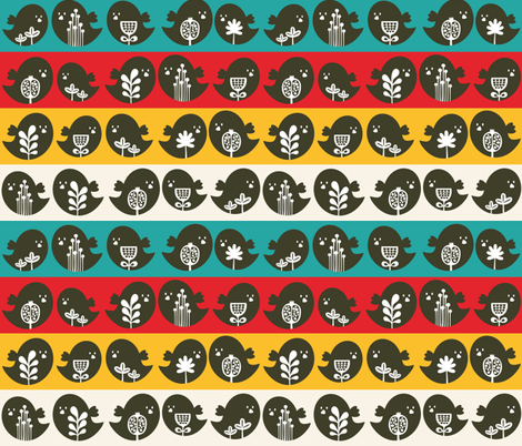 Bird in line. fabric by panova on Spoonflower - custom fabric