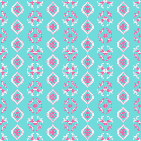 Mint tea ©2012 Jill Bull fabric by palmrowprints on Spoonflower - custom fabric