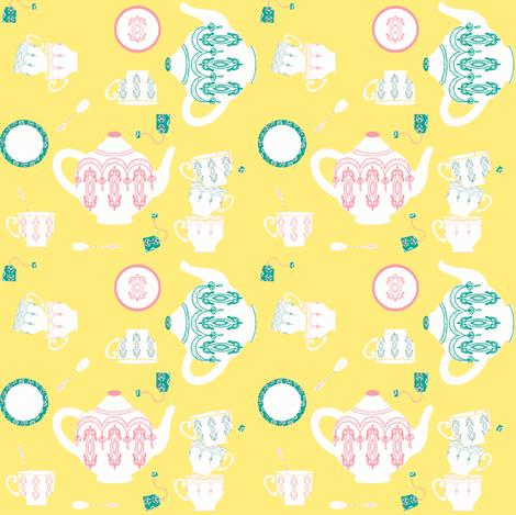 English Breakfast ©2012 Jill Bull fabric by palmrowprints on Spoonflower - custom fabric