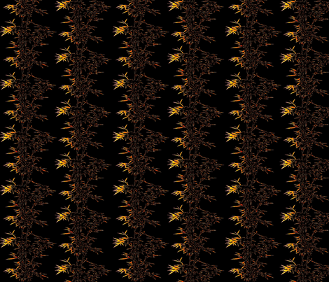 Bamboo black fabric by retroretro on Spoonflower - custom fabric