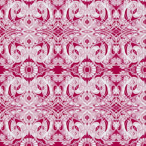 Really Red Rococo fabric by edsel2084 on Spoonflower - custom fabric