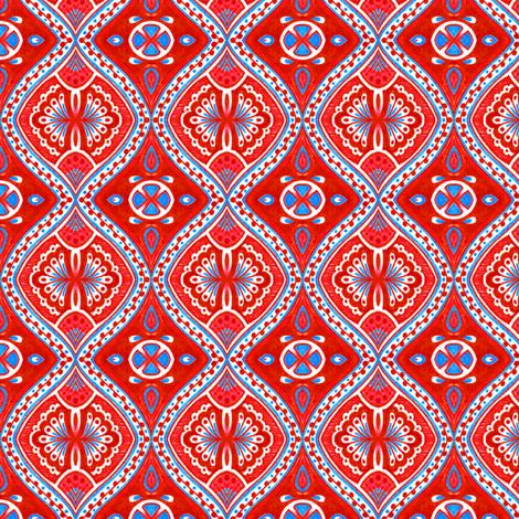 Rimini - Red fabric by siya on Spoonflower - custom fabric