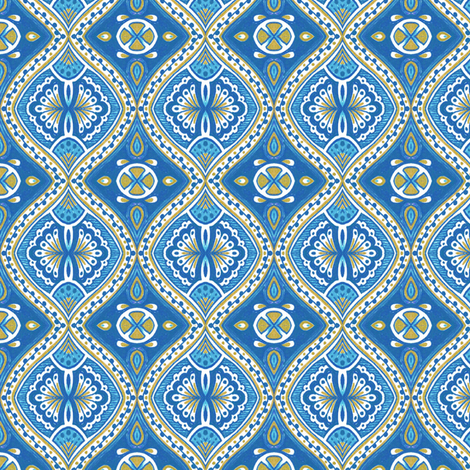 Rimini - Blue fabric by siya on Spoonflower - custom fabric