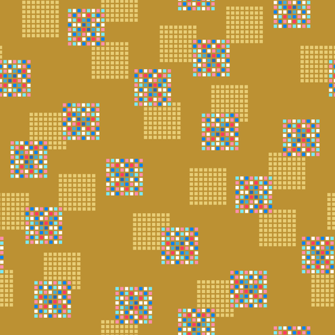 Rimini Blocks - Brown fabric by siya on Spoonflower - custom fabric
