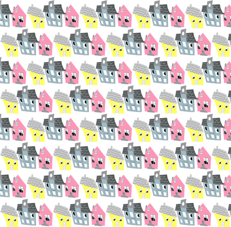 Houses 2 fabric by silverfishcircus on Spoonflower - custom fabric