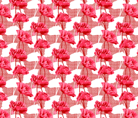 Rimini Poppies - Pink fabric by siya on Spoonflower - custom fabric