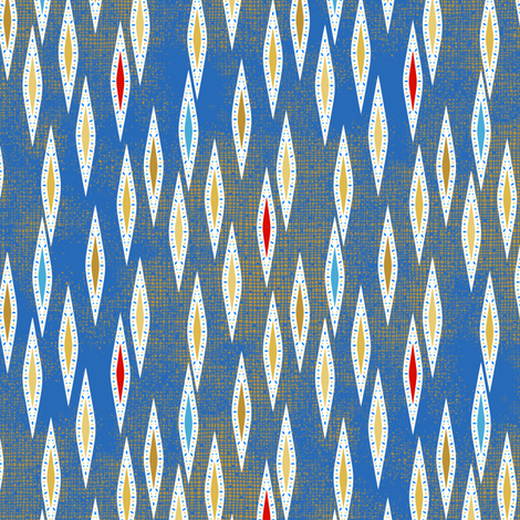 Rimini Jewel Darts - Blue fabric by siya on Spoonflower - custom fabric