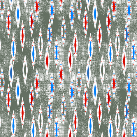 Rimini Jewel Darts - Gray fabric by siya on Spoonflower - custom fabric
