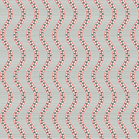 Rimini Stripe - Gray fabric by siya on Spoonflower - custom fabric