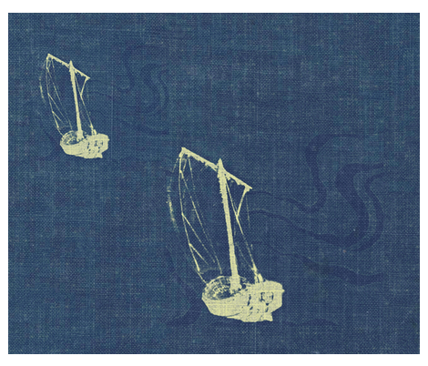 2061939_two_ships_on_blue-gray_2-ed fabric by materialsgirl on Spoonflower - custom fabric