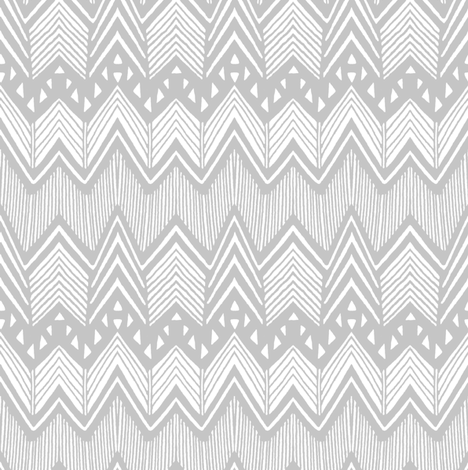 Gray Hand drawn Chevron fabric by kimsa on Spoonflower - custom fabric