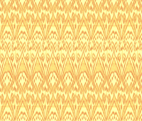 Golden Ikat fabric by ragan on Spoonflower - custom fabric