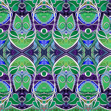 Whoooo Are You (hidden owls at midnight) fabric by edsel2084 on Spoonflower - custom fabric