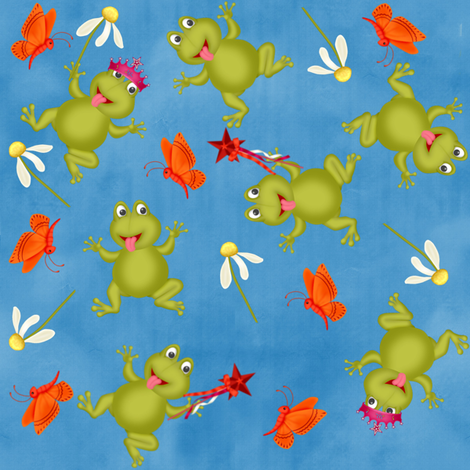 frogprincess1 fabric by cindypie on Spoonflower - custom fabric