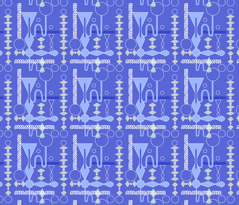 Mad Scientist Blue fabric by vinpauld on Spoonflower - custom fabric
