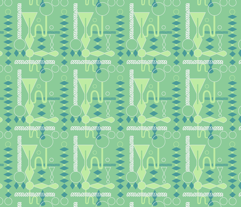 Mad Scientist Green and Teal fabric by vinpauld on Spoonflower - custom fabric