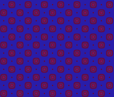 Berry Dots and Squares © Gingezel™ 2013 fabric by gingezel on Spoonflower - custom fabric