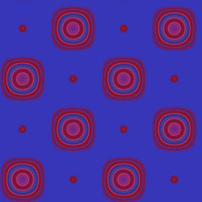 Berry Dots and Squares © Gingezel™ 2013