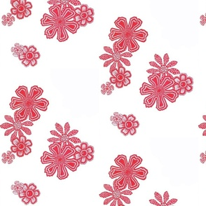 Red Doodle Flowers