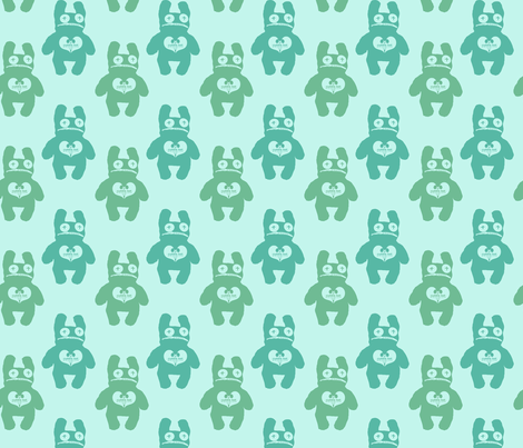 Peepas in Mint fabric by cuddlebat on Spoonflower - custom fabric