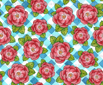 Alpen Rose with Gingham