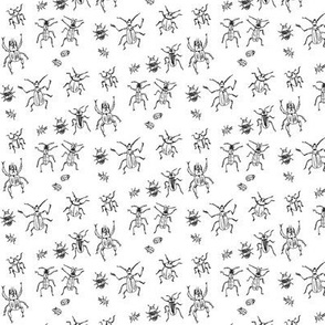 Beetle-Bug Brigade | Black on White