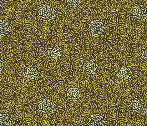 Firefly Flowers | Larger Scale fabric by imaginaryanimal on Spoonflower - custom fabric