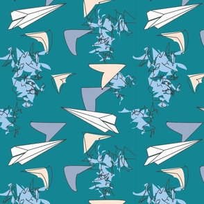 Paper Airplanes Turquoise