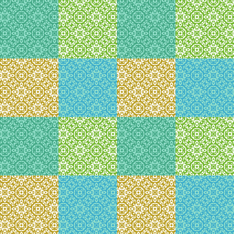 morrocan tiles fabric by vo_aka_virginiao on Spoonflower - custom fabric