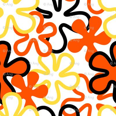 red/blk floral