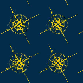 Compass blue & gold
