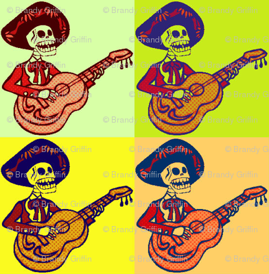 Pop Art Mariachi Skeletons