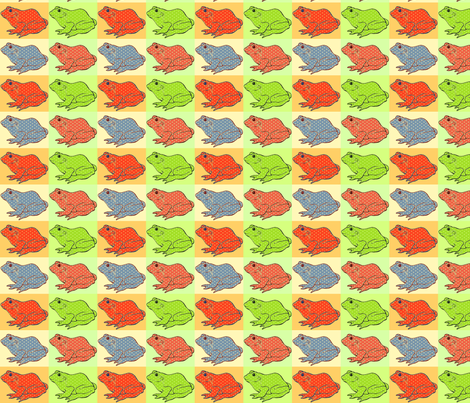 Frog Pop fabric by zedralz on Spoonflower - custom fabric