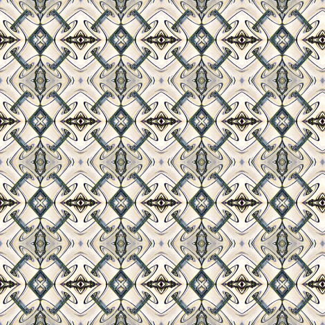 Etchings, Banker's Colors, Steam Punk version fabric by susaninparis on Spoonflower - custom fabric
