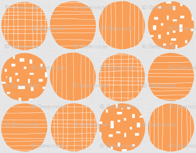 Orange circles (grey background)