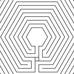hexagonal cretan labyrinth