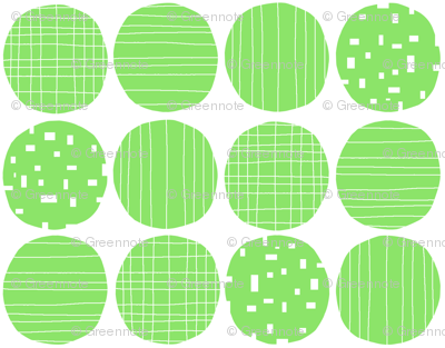 Green circles (white background)