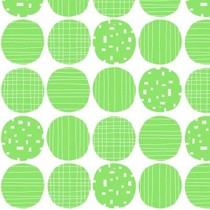 Lime circles (white background)