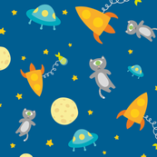 Space cat pattern