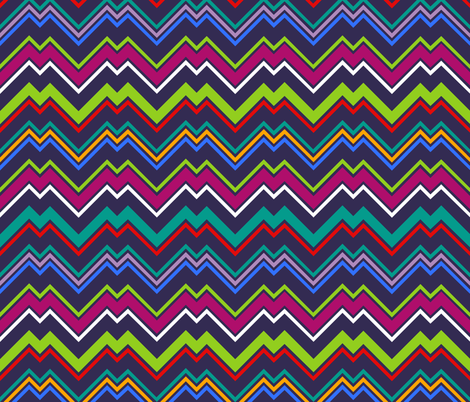 zigzag fabric by clemency_brown on Spoonflower - custom fabric
