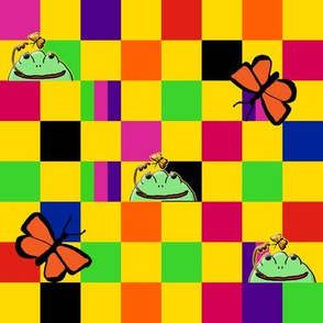 A Rainbow Checkerboard for Frogs