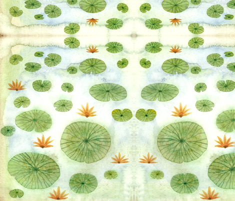 lily pond fabric by gollybard on Spoonflower - custom fabric