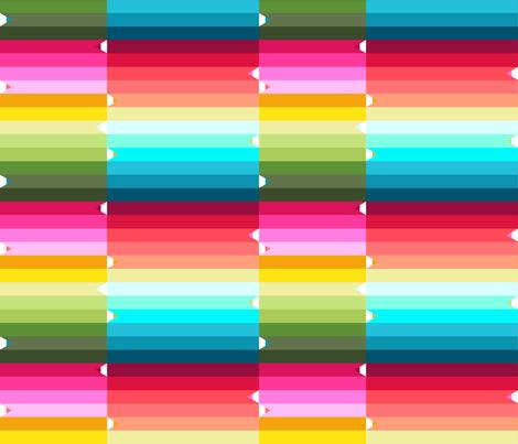 pencils rainbow  fabric by katarina on Spoonflower - custom fabric
