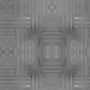Grey Fractal Weave Large © Gingezel™ 2013