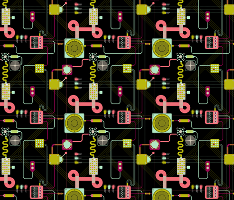 Most useless circuit fabric by candyjoyce on Spoonflower - custom fabric
