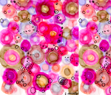 oh_so_bubbly fabric by nerdlypainter on Spoonflower - custom fabric