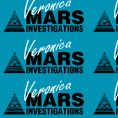Veronica Mars- Large White on Blue