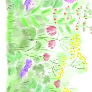 Floral Cottage Border