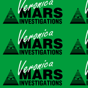 Veronica Mars- Large White on Green